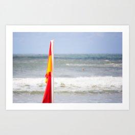Australia Beach Swim Flag Art Print