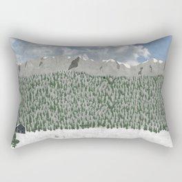 Mountain Home Rectangular Pillow