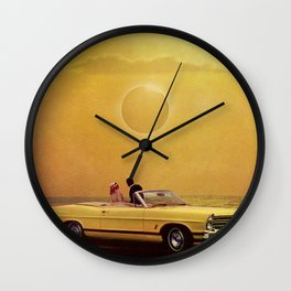 Yellow Fever View Wall Clock
