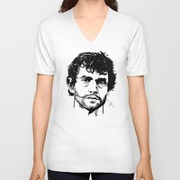 will graham V-neck T-shirts featuring Will Graham Sketch - Hannibal by Soyarts