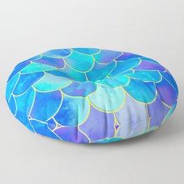 mermaid scale home design pattern Floor Pillow