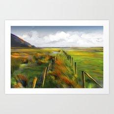 Achill Island Ireland / landscape, painting Art Print