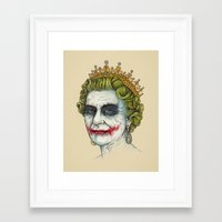 men Framed Art Prints featuring God Save the Villain! by Enkel Dika