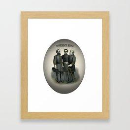 Civil War Heroes Stonewall Beauregard Lee Framed Art Print