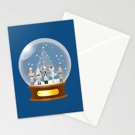 The Nutcracker Christmas Special - Snow Globe Edition - Nutcracker Ballet Scene - Nutcracker Christmas eve in a snow globe  Stationery Cards