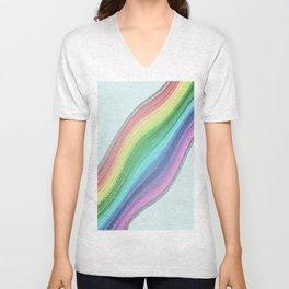 Rainbow Design  Unisex V-Neck