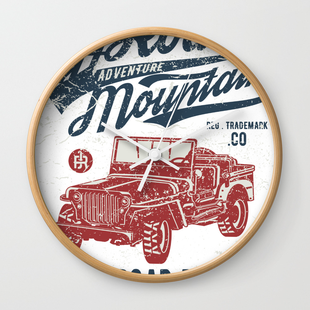 Off Road Adventure Mountain - Off Road Rebel Jeep … Wall Clock by Eaglestyle CLK7784537