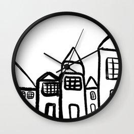 Minimal houses design  Wall Clock