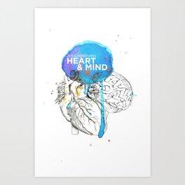 Art Coordinates Heart and Mind Art Print