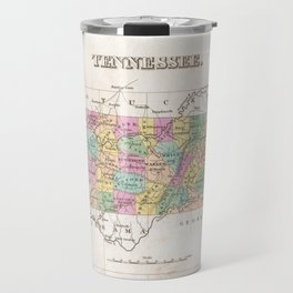 Vintage Map of Tennessee (1827) Travel Mug