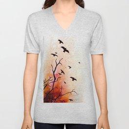 Birds flying Unisex V-Neck