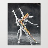 ballet Canvas Prints featuring Ballet by Ben Giles