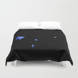 SATURN AND DIONE Duvet Cover