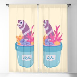 Eel flower pot 2 Blackout Curtain