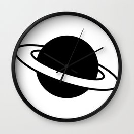 Saturn Planet Ring Icon Wall Clock