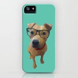 Kane the Staffie Dog Polygon Art iPhone Case