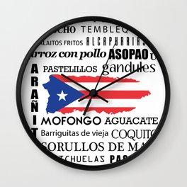Puerto Rican foody & boricua  cousine  Wall Clock