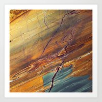 white marble Art Prints featuring Marble by Santo Sagese