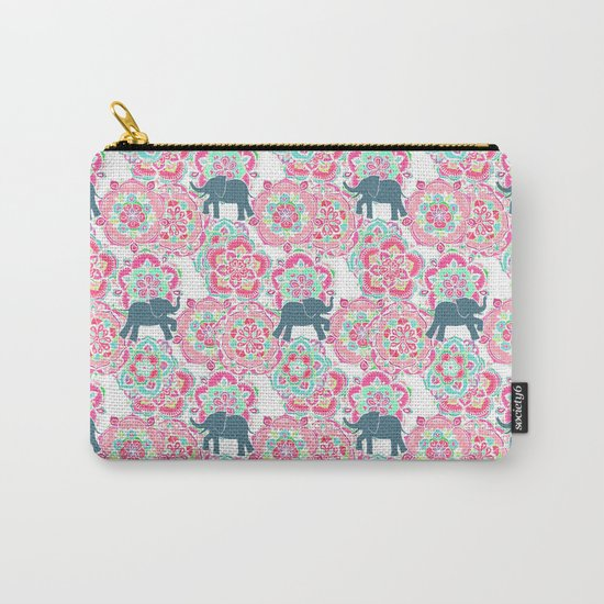 Tiny Elephants in Fields of Flowers Carry-All Pouch