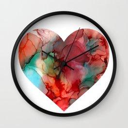 Inside my heart | Alcohol ink artwork Wall Clock