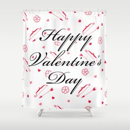 Happy Valentine's Day: Cupid's Arrow Shower Curtain