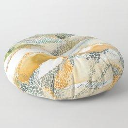 Reflection dream; earthen Floor Pillow