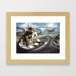 Floating Sushi Framed Art Print