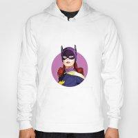 batgirl Hoodies featuring Batgirl by Rabassa