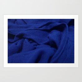 Blue Velvet Dune Textile Folds Concept Photography Art Print