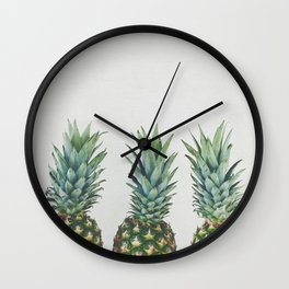 Pineapple Trio Wall Clock