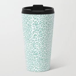 Mint Leopard Print Travel Mug