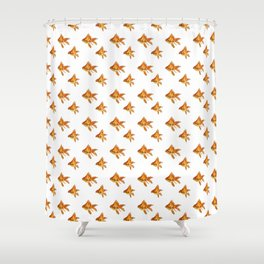 Gold Fish Painting Wall Art Shower Curtain