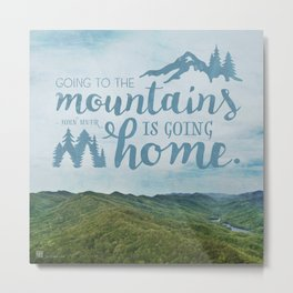 Going to the Mountains Metal Print
