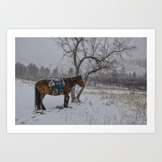 Winter Horse III Art Print