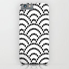 Japanese Seigaiha Dotted Seamless Pattern Geometrical Symbols iPhone Case