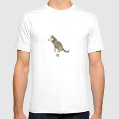 Wolf Mens Fitted Tee White MEDIUM