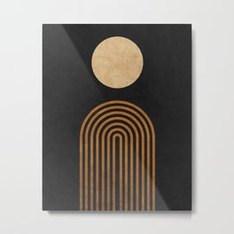 Midnight Jazz - Minimal Geometric Abstract - Black 1 Metal Print