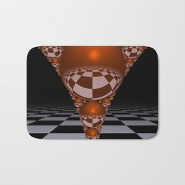 Apollonian gasket - orange Bath Mat
