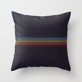 Thin Stripes Retro Colors Throw Pillow