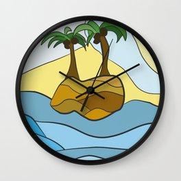 Island Hopping Wall Clock