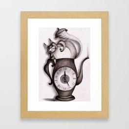 Wonderland: Madness cat-tea Framed Art Print