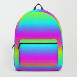 Neon Stripes Backpack