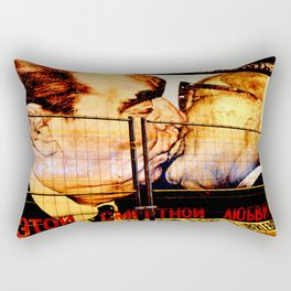 Brotherhood Kiss Rectangular Pillow