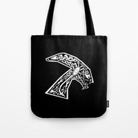 xenomorph Tote Bags featuring Celtic xenomorph by ronnie mcneil