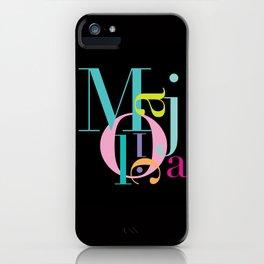 M-A-J-O-L-I-C-A iPhone Case