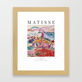 View of Collioure - Henri Matisse - Exhibition Poster Framed Art Print