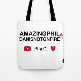 Amazingphil and danisnotonfire Tote Bag