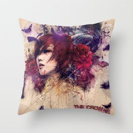 The Crow & The Butterfly Throw Pillow