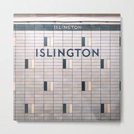Islington Station Toronto Subway Sign Metal Print