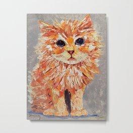 Orange kitten Metal Print